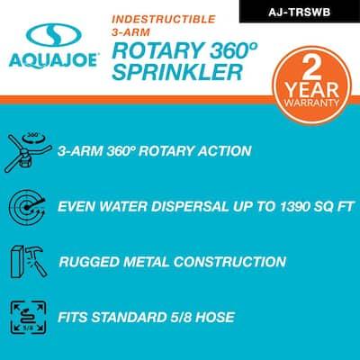 8 in. 360° Indestructible 3-Arm Zinc Rotary Sprinkler