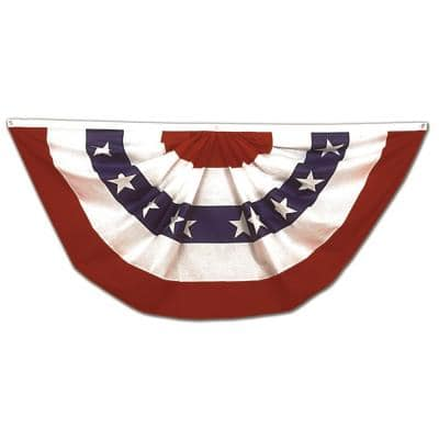 1-1/2 ft. x 3 ft. Pleated US Flag Bunting