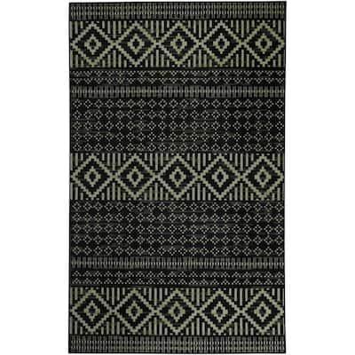 Sono Black 8 ft. x 10 ft. Moroccan Area Rug