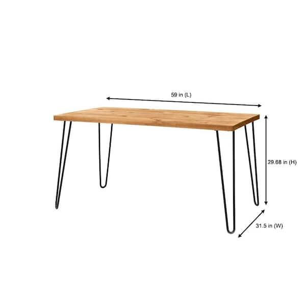 Stylewell Banyan Honey Brown Wood, Metal Legs For Furniture Home Depot