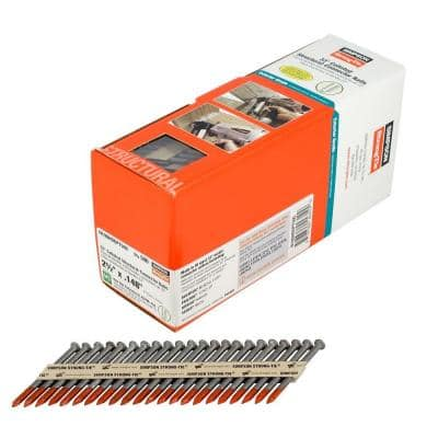 Strong-Drive 2-1/2 in. x 0.148 in.  33-degree SCN Smooth-Shank HDG Collated Connector Nail (500-Qty)