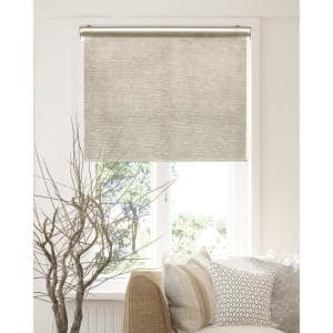 Chicology Snap N Glide Felton Sand Cordless Light Filtering Uv Protection Polyester Blend Roller Shade 36 In W X 72 In L Rsfs3672 The Home Depot