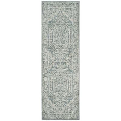 Adirondack Slate/Ivory 3 ft. x 20 ft. Runner Rug