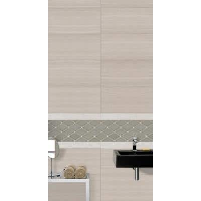 Tektile Lineart Ivory Bullnose 3 in. x 24 in. Matte Porcelain Wall Tile (5 pieces / 10 lin. ft. / case)