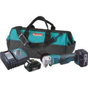 18-Volt LXT 3/8 in. Cordless Angle Drill Kit with (2) Batteries 3.0Ah, Charger, and Tool Bag