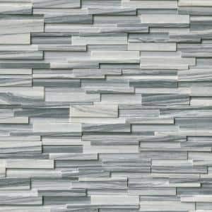Alaska Gray 3D Ledger Corner 6 in. x 6 in. x 6 in. Honed Marble Wall Tile (2.5 sq. ft./Case)