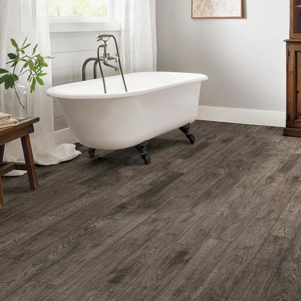 Armstrong American Home Hickory Greige Twist 6.5 in. x 48 in. Glue Down Luxury  Vinyl Plank (34.66 sq. ft. / case)-K100064P - The Home Depot