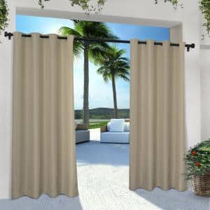 Taupe Solid Grommet Room Darkening Curtain - 54 in. W x 84 in. L (Set of 2)