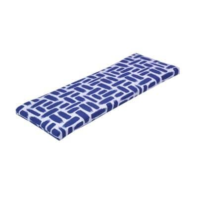 46.5 in. x 17.5 in. x 3 in. Baja Nautical Outdoor Bench Cushion