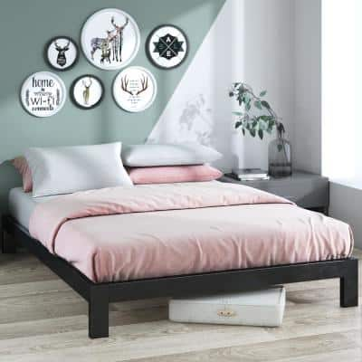 Arnav Queen Black Metal Platform Bed Frame