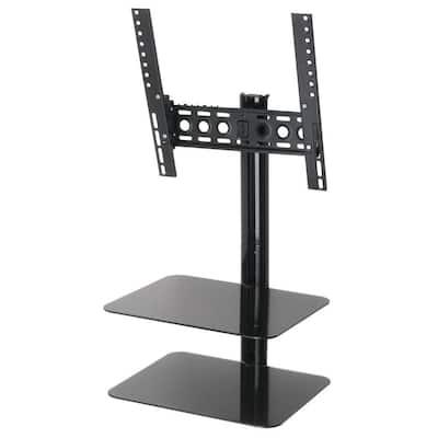 Tilt and Turn Flat Panel TV Mount with AV Shelving for TVs up to 47 in.