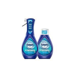 Platinum Powerwash Dish Spray 16 oz Fresh Scent Bundle Dish Soap with 1 Starter Kit Plus 1 Refill
