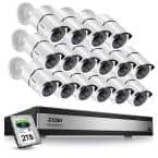 16-Channel 1080p 2TB DVR Security Camera System with 16 Wired Bullet Cameras