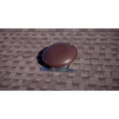 144 sq. in. NFA Galvanized Steel Static Dome Roof Vent in Brown