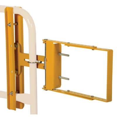 34.75 in. x 24 in. Self-Closing Steel Gates Yellow Powder Coat Steel