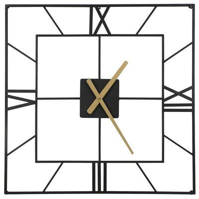 Black Decorative 25 in. Wall Clock