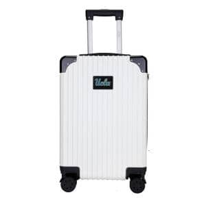 21 in. White UCLA premium 2-Toned Carry-On Suitcase