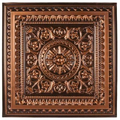Marseille 2 ft. x 2 ft. Lay-in or Glue-up Ceiling Tile in Antique Copper (48 sq. ft. / case)