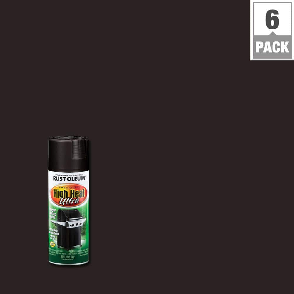 Rust-Oleum Specialty 12 oz. High Heat Ultra Semi-Gloss Black Spray Paint (6-Pack)