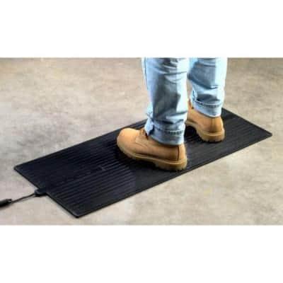 36 in. x 16 in. x 0.25 in. Super Foot Warmer Heated Rubber Floor Mat