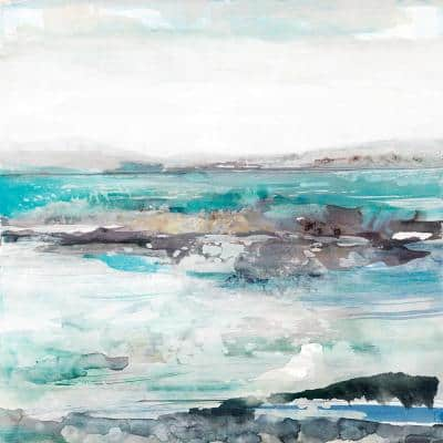 "72 in. x 72 in. ""Sea Foam I"" by Maya Woods Canvas Wall Art"