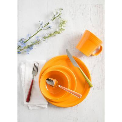 5 in. 9 oz. Butterscotch Ceramic Individual Fruit/Salsa Bowl