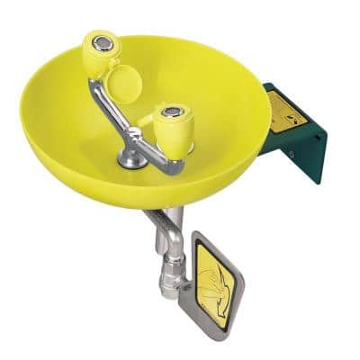 Eyesaver Eyewash with Round Yellow Plastic Bowl