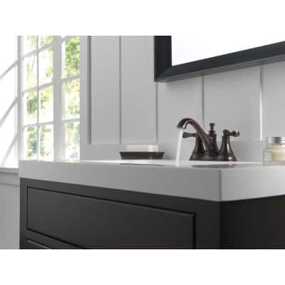 Silverton 4 in. Centerset 2-Handle Bathroom Faucet in SpotShield Venetian Bronze