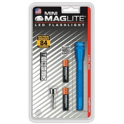 Mini LED 2AAA Flashlight in Blue