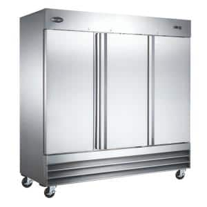 81 in. W 73 cu. ft. Freezerless Commercial Refrigerator in Stainless Steel