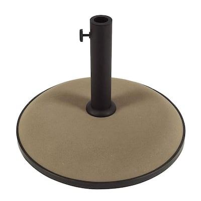 55 lb. Concrete Patio Umbrella Base in Champagne Bronze