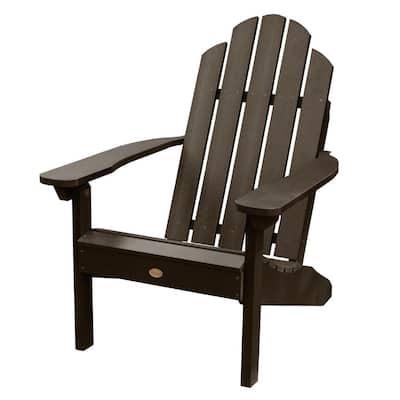 Classic Wesport Weathered Acorn Recycled Plastic Adirondack Chair