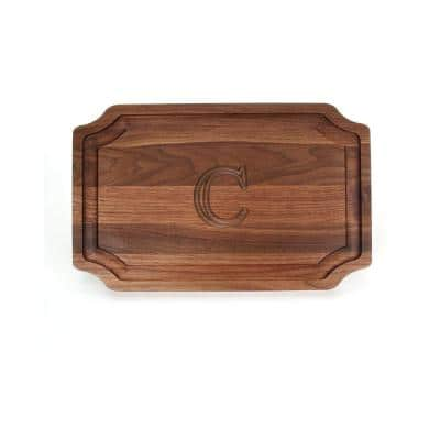 Scalloped Walnut Carving Board C