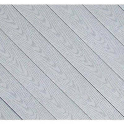 1 in. x 5.25 in. x 12 ft. Straight Edge Capped Composite Decking Board in Gray