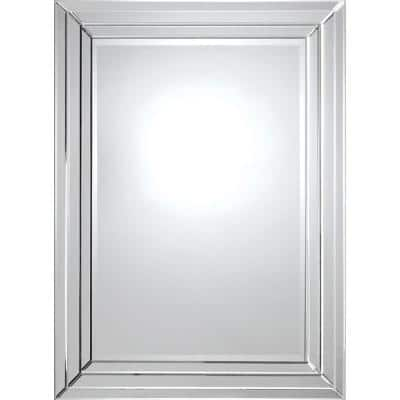 Medium Rectangle Glass Shatter Resistant Contemporary Mirror (36 in. H x 48 in. W)