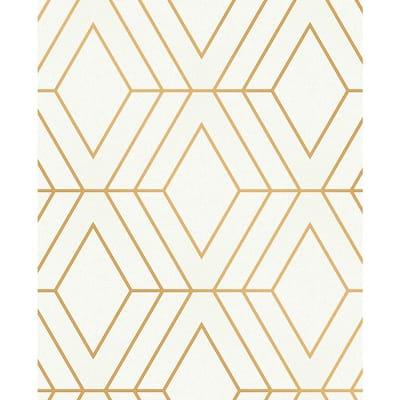Adaline Off-white Geometric Vinyl Peelable Wallpaper (Covers 56.4 sq. ft.)