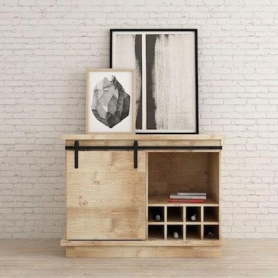 4 ft. Black Solid Steel Mini Sliding Rolling Barn Door Hardware Kit for Single Furniture Wood Doors