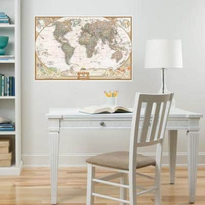 Neutral National Geographic World Dry Erase Map Decal