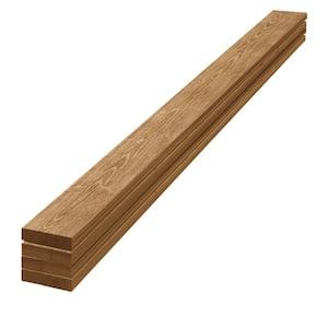 1 in. x 4 in. x 8 ft. Barn Wood Light Brown Pine Trim Board (4-Pack)