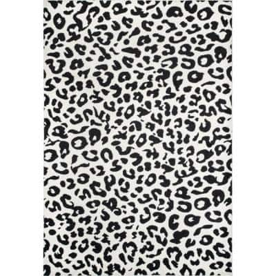 Sebastian Leopard Print Dark Gray 3 ft. x 5 ft. Area Rug