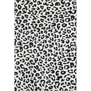 Sebastian Leopard Print Dark Gray 6 ft. x 9 ft. Area Rug