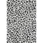 Sebastian Leopard Print Dark Gray 8 ft. x 10 ft. Area Rug
