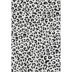 Sebastian Leopard Print Dark Gray 9 ft. x 12 ft. Area Rug