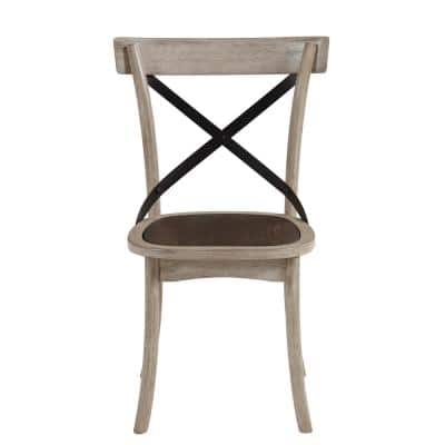Winslet Gingerbread and White X-Back Dining Chairs (Set of 2 Chairs Included)