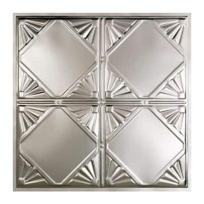 Erie 2 ft. x 2 ft. Lay-In Tin Ceiling Tile in Clear (20 sq. ft./case)
