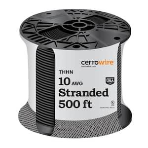 500 ft. 10/1 Black Stranded THHN Wire