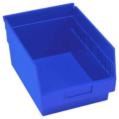 Store-More 10-Qt. Storage Tote 6 in. Shelf in Blue (20-Pack)