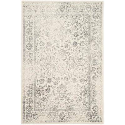 Adirondack Ivory/Silver 4 ft. x 6 ft. Area Rug