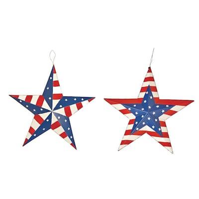 16 in. Metal Americana Star (Set of 2)