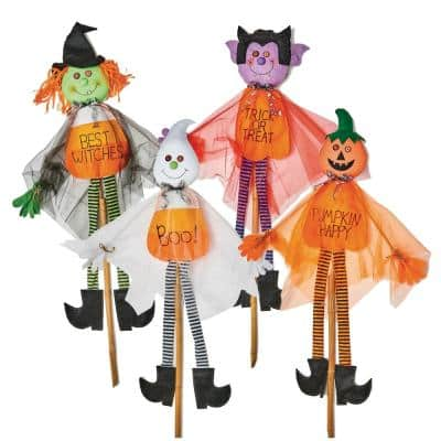 Four piece 60 in. Halloween Gauzy Figures on Stake (Set of 4)